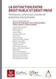La Distinction entre droit public et droit privé : pertinence, influences croisées et questions transversales