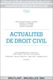 Actualités de droit civil : volume II