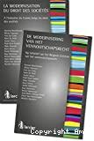 La Modernisation du droit des sociétés : à l'initiative du Centre belge du droit des sociétés = De modernisering van het vennootschapsrecht : op initiatief van het Belgisch Centrum van het venootschapsrecht