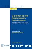 Protection des droits fondamentaux dans l'Union européenne : entre évolution et permanence