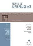 Recueil de jurisprudence : responsabilité, assurances, accidents de travail : volume V, Jurisprudence 2015