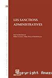 Les Sanctions administratives