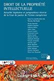 Droit de la propriété intellectuelle : actualité législative et jurisprudence récente de la Cour de justice de l'Union européenne
