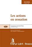 Les Actions en cessation