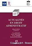 Actualités en droit administratif