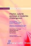 Filiation, autorité parentale et modalités d'hébergement : actes du XIe colloque de l'association