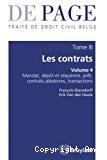 Traité de droit civil belge : tome III : les contrats, vol. 4 : mandat, prêt, dépôt, transaction, contrats aléatoires