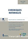 Chroniques notariales vol. 67