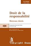 Droit de la responsabilité : morceaux choisis