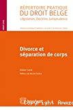 Divorce et séparation de corps