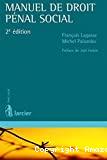 Manuel de droit pénal social ; 2ième édition