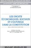 Les Droits économiques, sociaux et culturels dans la Constitution : actes du colloque tenu à l'U.L.B. les 21 et 22 décembre 1994