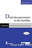 Droit des personnes et des familles : 3ème édition