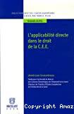 L'Applicabilité directe dans le droit de la C.E.E.