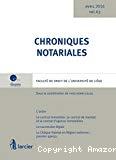 Chroniques notariales : vol. 63