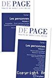 Traité de droit civil belge : tome I : les personnes : volume 1 : personnalité juridique, relations familiales