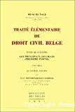 Traité élémentaire de droit civil belge : tome quatrième : les principaux contrats (première partie) : volume 1 : quatrième édition