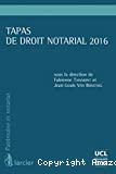 Tapas de droit notarial 2016
