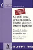 Conflits entre droits subjectifs, libertés civiles et intérêts légitimes : un modèle de résolution basé sur l'opposabilité et la responsabilité civile