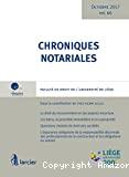 Chroniques notariales vol. 66