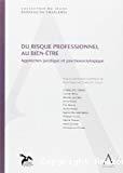 Risque professionnel au bien-être : approches juridique et psychosociologique : Sous la coordination scientifique d'André Nayer et Charles-Eric Clesse
