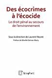 Des écocrimes à l'écocide : le droit pénal au secours de l'environnement