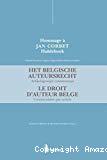Hommage à Jean Corbet : droit d'auteur belge : commentaire par article = Het belgische auteursrecht : artikelswiuze commentaar