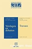 Comité d'études et de législation : travaux : années 2008-2009
