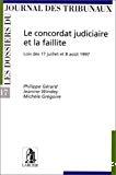 Le Concordat judiciaire et la faillite : lois des 17 juillet et 8 août 1997