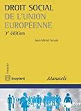 Droit social de l'Union européenne : 3ème édition