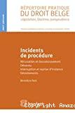 Incidents de procédure : récusation et dessaisissement, désaveu, interruption et reprise d'instance, désistement