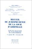 Recueil de jurisprudence de la cour d'arbitrage