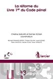 Réforme du livre 1er du Code pénal belge