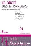Le Droit des étrangers : chronique de jurisprudence 2007-2010