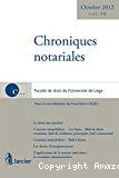 Chroniques notariales : Sous la direction de Yves-Henri Leleu : volume 56