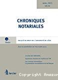 Chroniques notariales : vol. 61 : le droit des libéralités ; questions choisies en matière de TVA ; les contrats immobiliers : la promotion immobilière et la loi Breyne