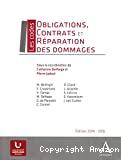 Obligations, contrats et réparation des dommages : principaux textes juridiques
