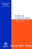 Le Point sur le droit des sociétés : questions choisies : séminaire organisé à Liège le 26 mai 2011. -