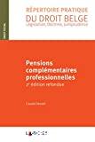 Pensions complémentaires professionnelles