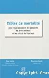 Tables de mortalité pour l'indemnisation des accidents de droit commun et les calculs de l'usufruit