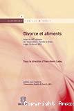 Divorce et aliments : actes du XIIème colloque de l'Association